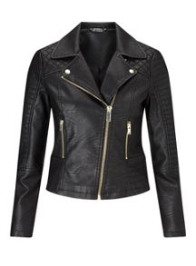 Miss Selfridge Petites Black Puffa Jacket