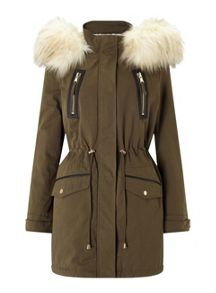 Miss Selfridge Khaki Lux Parker
