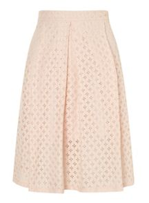 Miss Selfridge Petites Blush Lace Midi Skirt