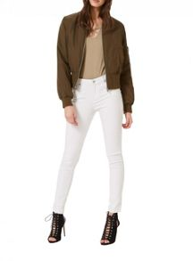 Miss Selfridge Khaki Bomber Jacket
