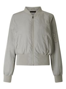 Miss Selfridge Grey Bomber Jacket