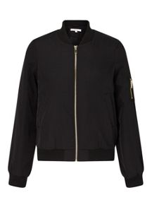 Miss Selfridge Petites Black Bomber Jacket