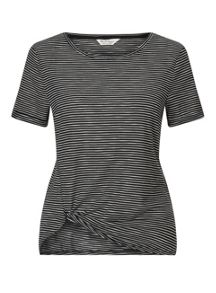 Miss Selfridge Stripe Knot Tee