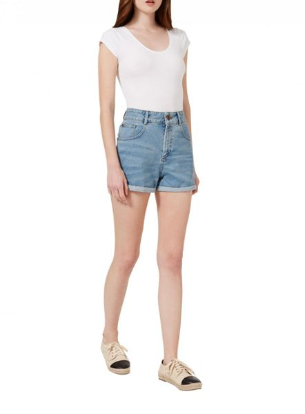 Miss Selfridge White Shortsleeve Scoop Body