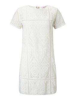 Petites Heavy Lace Tee Dress