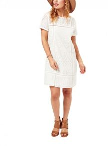 Miss Selfridge Petites Heavy Lace Tee Dress