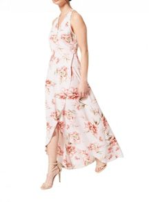 Miss Selfridge Petites Floral Wrap Maxi Dress