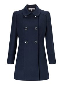 Miss Selfridge Petites Navy Pea Coat