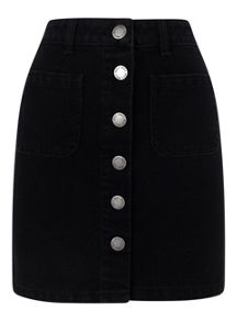 Miss Selfridge Black Patch Pocket Skirt