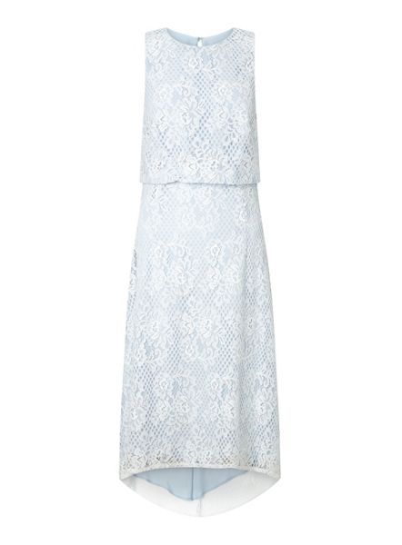 Miss Selfridge Lace Dip Back Hem Midi Dress