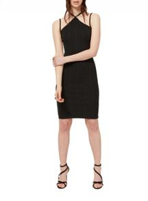 Miss Selfridge Black Multi Strap Dress