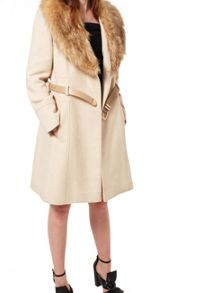 Miss Selfridge Stone Fit And Flare Coat