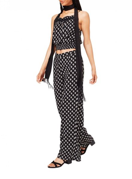 Miss Selfridge Monochrome Wide Leg Trouser