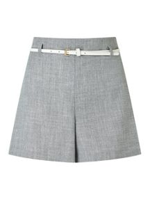 Miss Selfridge Grey Belted Short