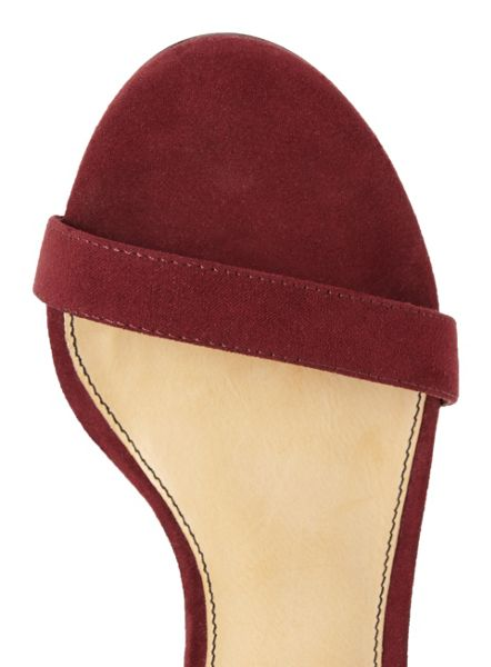 Miss Selfridge Charis Strappy Sandal Burgundy