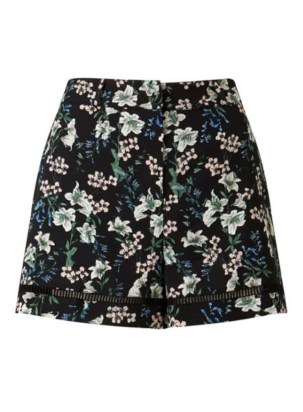 Miss Selfridge Dark Floral Short
