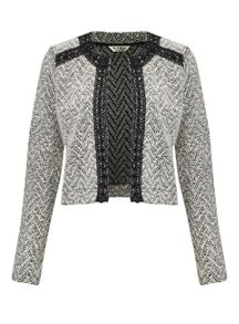 Miss Selfridge Cream Boucle Jacket