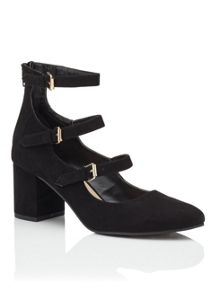 Miss Selfridge Genova 3 Strap Dolly Shoe