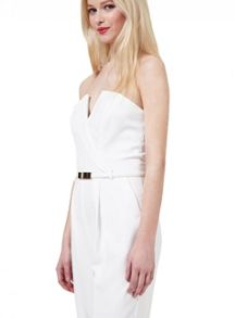 Miss Selfridge White Tux Jumpsuit