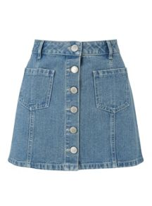 Miss Selfridge Petites Blue Denim Mini Skirt