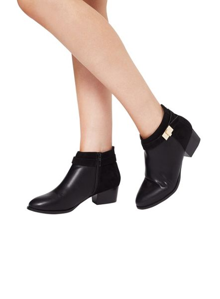 Miss Selfridge Alessia Twist Lock Ankle Boot