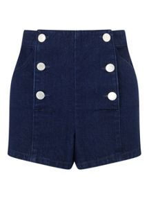 Miss Selfridge Petites Indigo Sailor Short