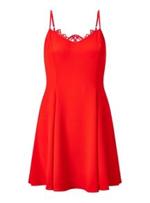Miss Selfridge Petites Red Lace Back Dress