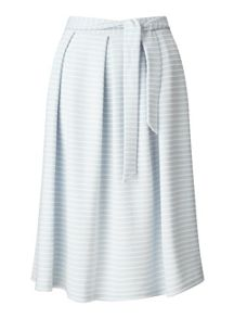 Miss Selfridge Pale Blue Stripe Midi Skirt