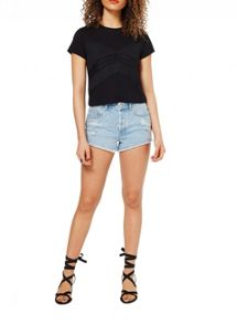 Miss Selfridge Black Cornelli Tee