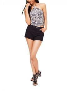 Miss Selfridge Tile Tribal Crop Top