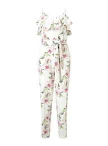 Miss Selfridge Floral Ruffle Jumpsuit
