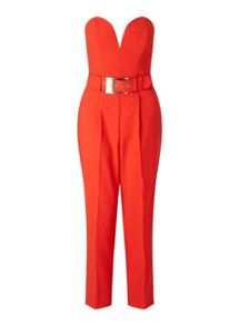 Miss Selfridge Red Tailored Jumpsuit