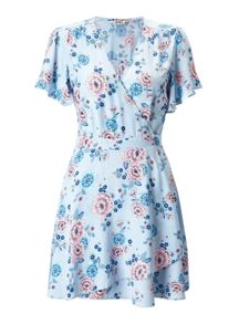 Miss Selfridge Petites Floral Wrap Dress