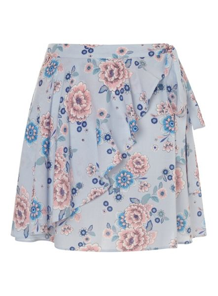 Miss Selfridge Petites Floral Wrap Mini Skirt