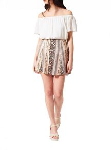 Miss Selfridge Petites Paisley Stripe Skort