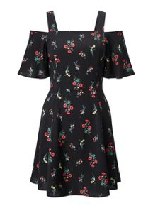 Miss Selfridge Petites Cold Shoulder Dress