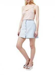 Miss Selfridge Bleach Denim Skirt
