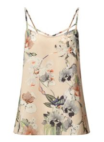 Miss Selfridge Botanical Print Bar Strap Cami