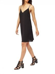 Miss Selfridge Black Strappy Slip Cami Dress