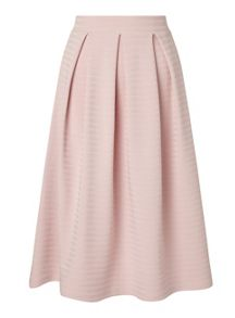 Miss Selfridge Nude Textured Midi Skirt