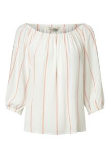 Miss Selfridge Stripe 3/4 Bardot