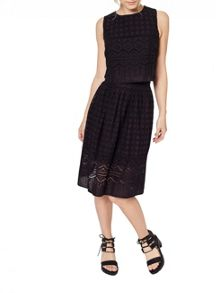 Miss Selfridge Petites Cutwork Midi Skirt