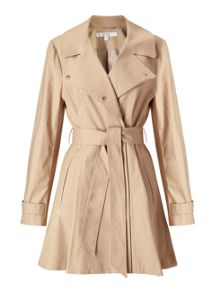 Miss Selfridge Petites Camel Fitted Coat