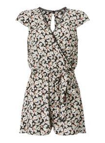 Miss Selfridge Floral Wrap Playsuit