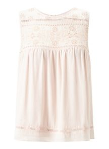 Miss Selfridge Petites Daisy Cutwork Top