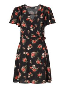 Miss Selfridge Printed Tea Dress