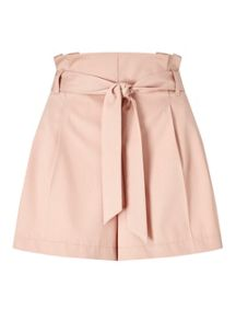 Miss Selfridge Pink Belted Short