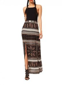 Miss Selfridge Printed Split Maxi Skirt