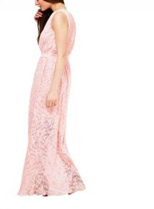 Miss Selfridge Pink Lace Maxi Dress