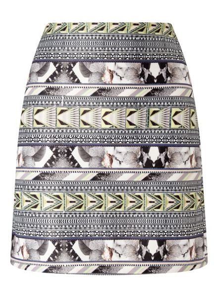 Miss Selfridge Tropical Tube Skirt